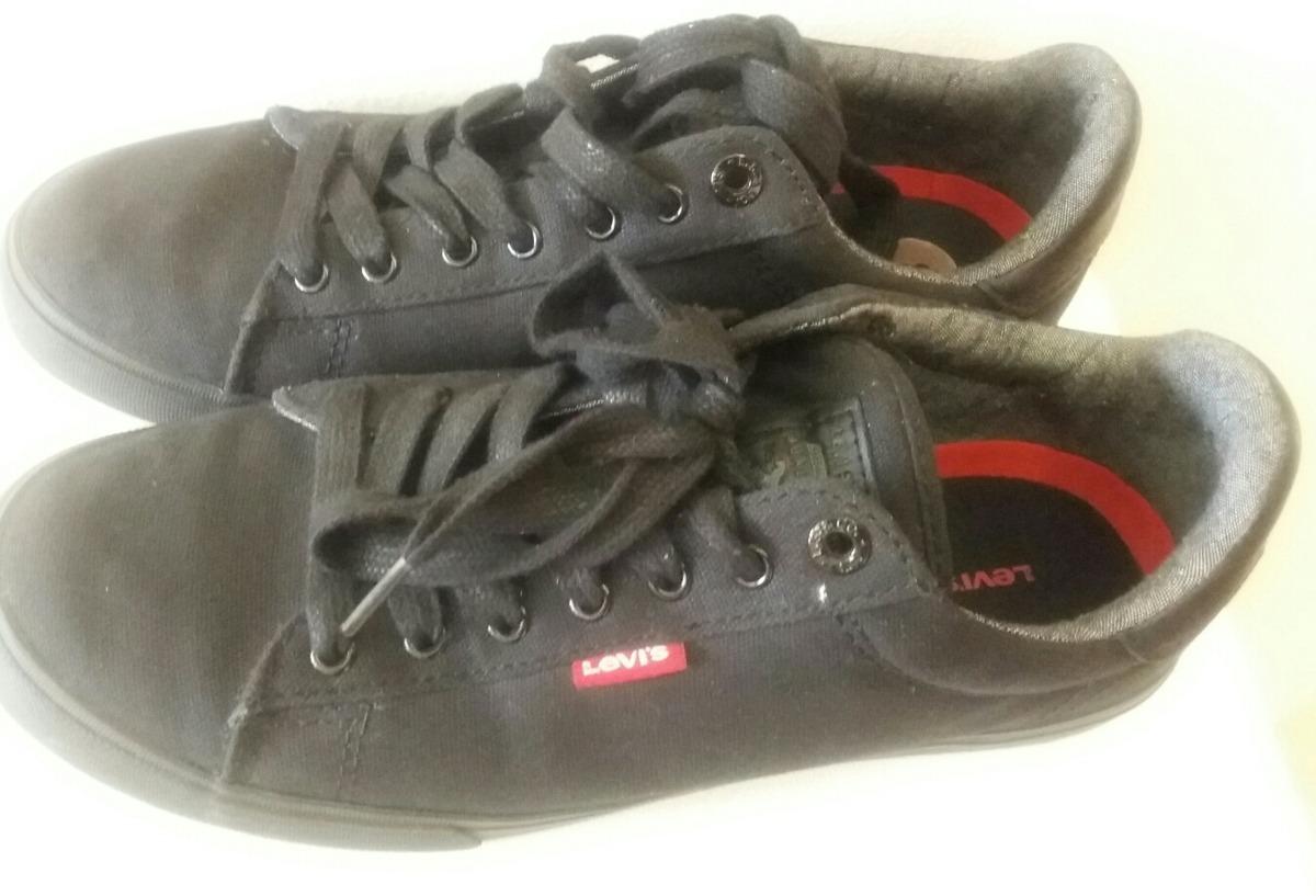 3b396c48061 zapatos deportivos caballeros marca levis original. negro. Cargando zoom.