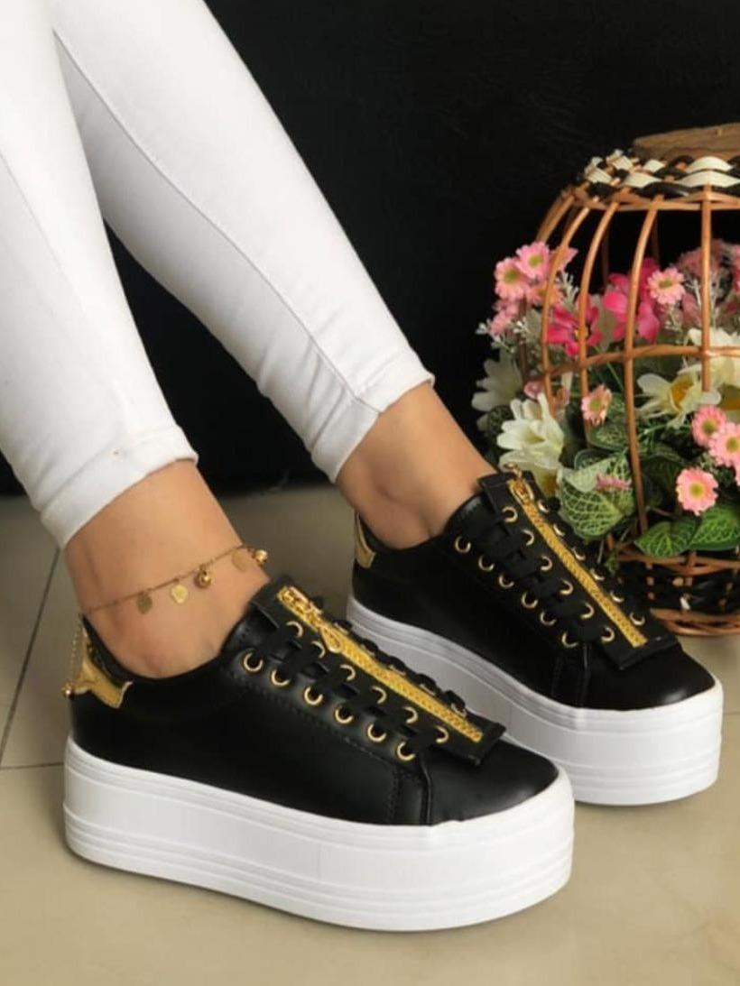 a5564816023 Zapatos Deportivos De Dama Doble Piso Moda Colombiana - Bs. 88.506 ...