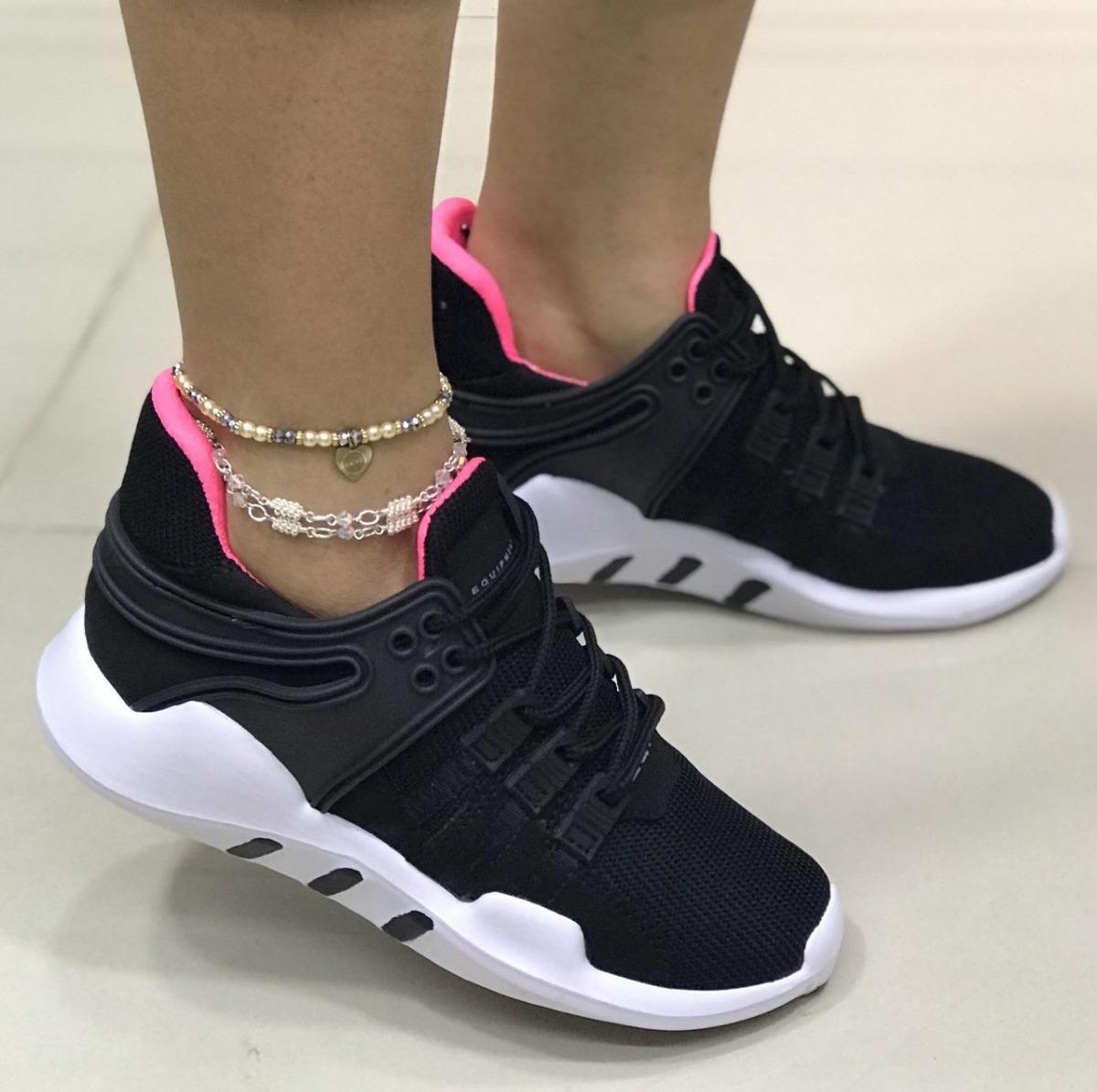 672540c9 zapatos deportivos negros para mujer tenis moda para mujer ...