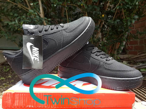 zapatos deportivos nike air force one negro miel gamuzadoaf1