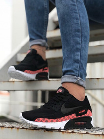 Zapatos Deportivos Nike Air Max 90 Dama Negros Rosado