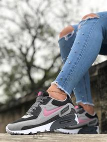 Zapatos Deportivos Nike Airmax 90 Dama Unisex Blanco Y Negro