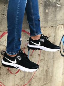 Zapatos Deportivos Nike Presto Caballero Negro Rojo Azul
