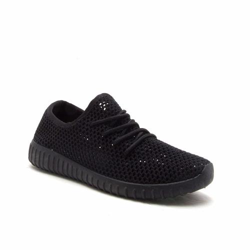 zapatos deportivos qupid de malla para dama en 3 colores