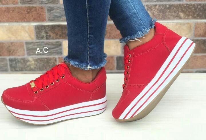 e488ff71 Zapatos Deportivos Rojos Mujer De Moda Para Dama Colombia - $ 84.550 ...