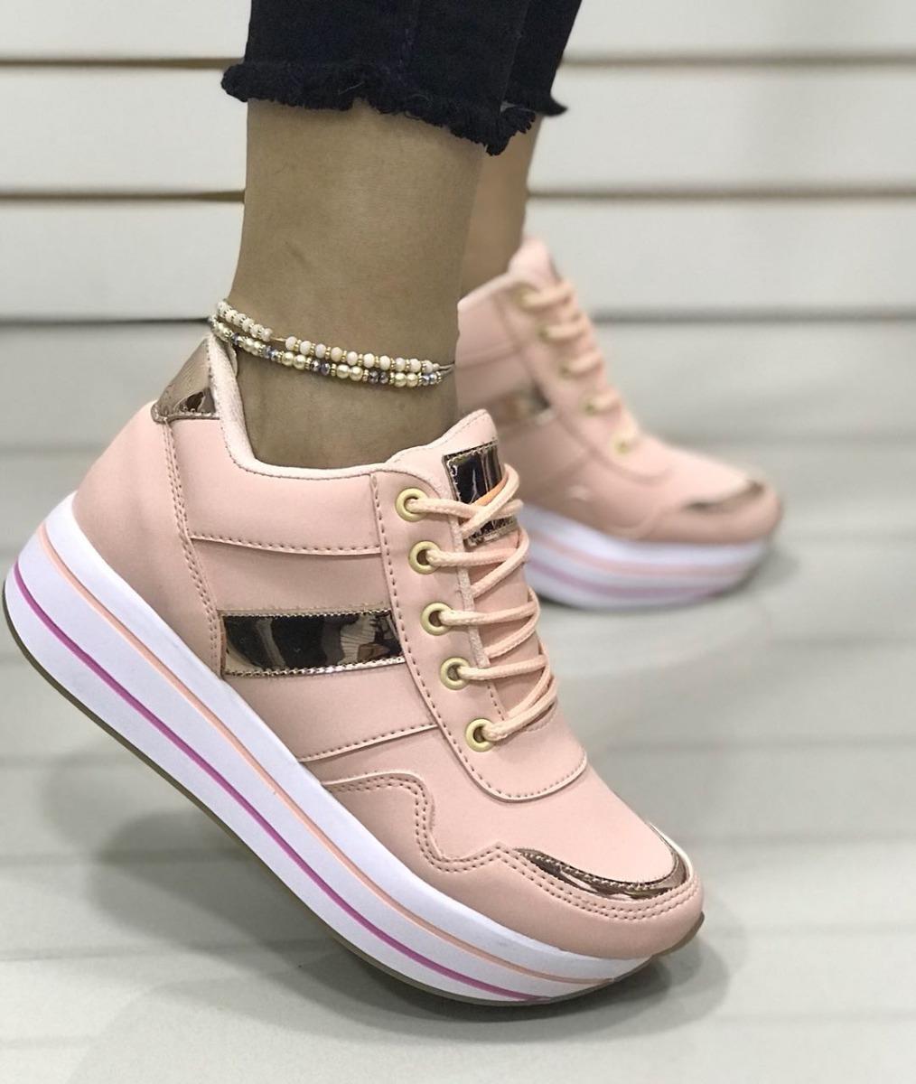 eec01fab15e60 zapatos deportivos suela alta salmon curuba dama moda mujer. Cargando zoom.
