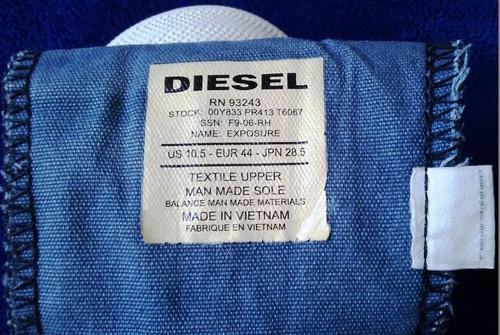 zapatos diesel exposure 41.5 tenis usados baratos