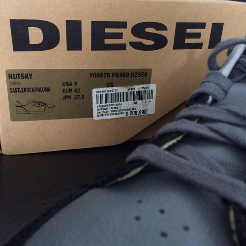 zapatos diesel red: hutsky talla usa 9