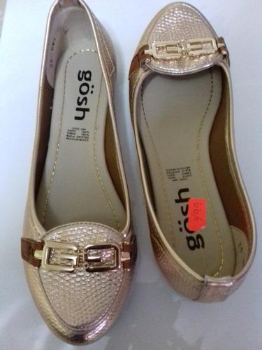 zapatos dorados cuero mexicano talla 37