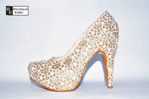 zapatos dorados de fiesta para mujer envios a todo el peru