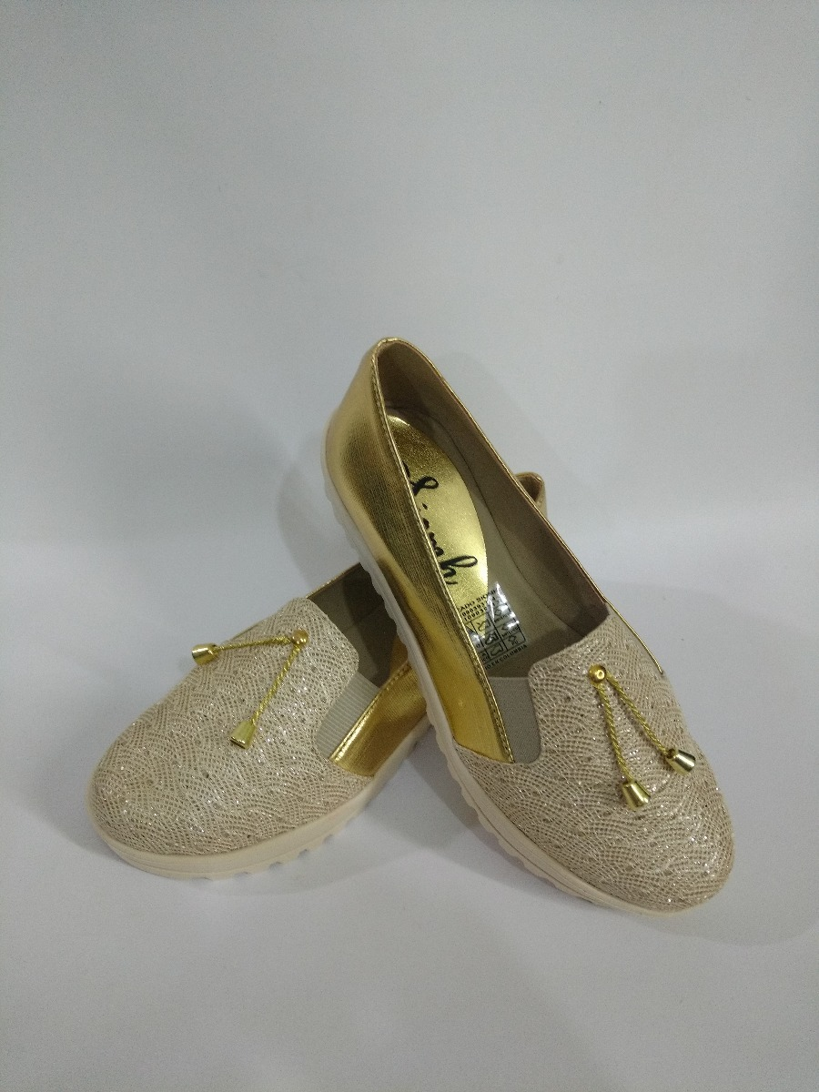 aab6a562 zapatos dorados de moda ultima coleccion mujer envío gratis. Cargando zoom.