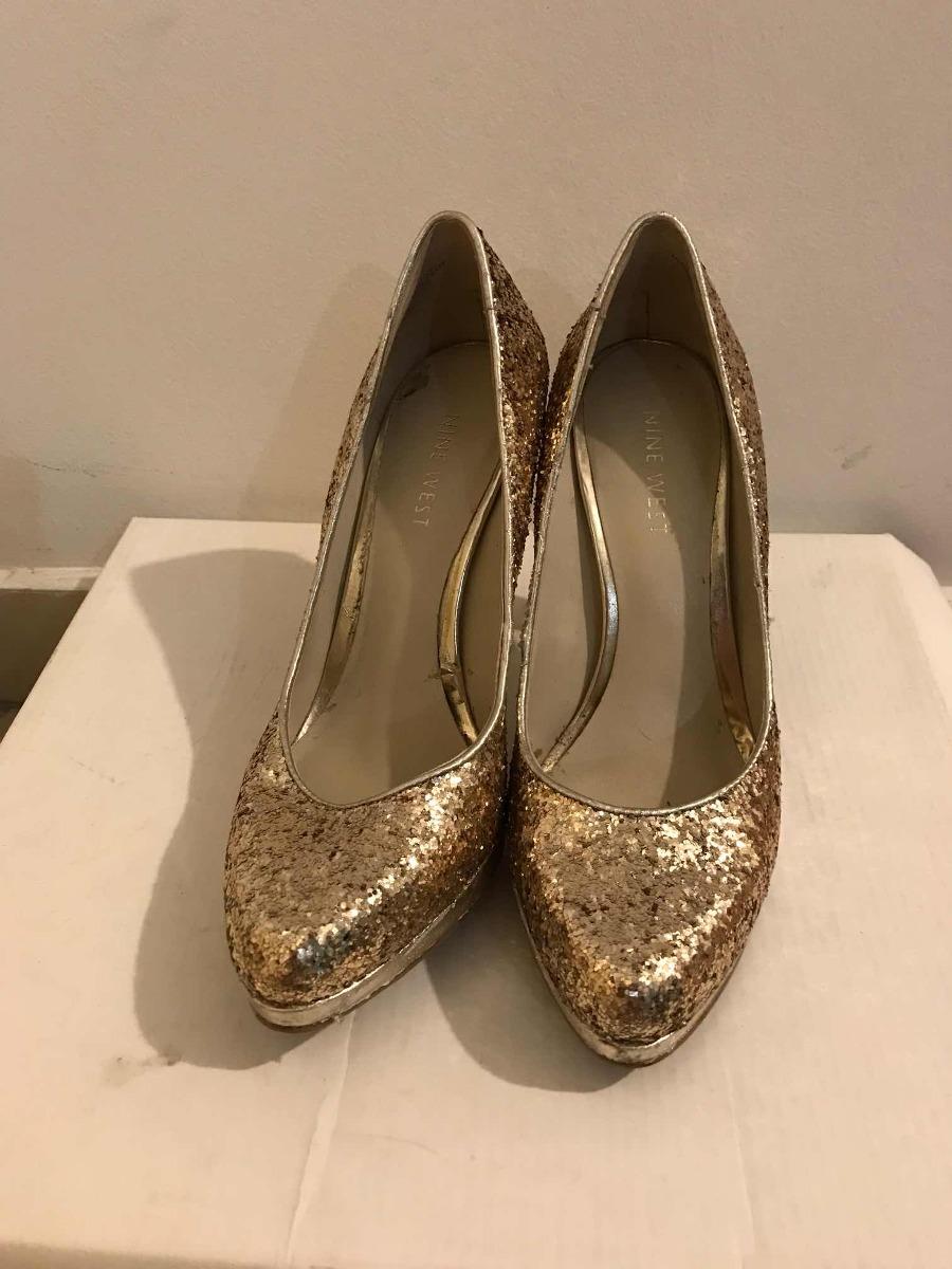 Glitter Nine De Dorados Zapatos Fiesta Noche O West vn8Oy0wPNm