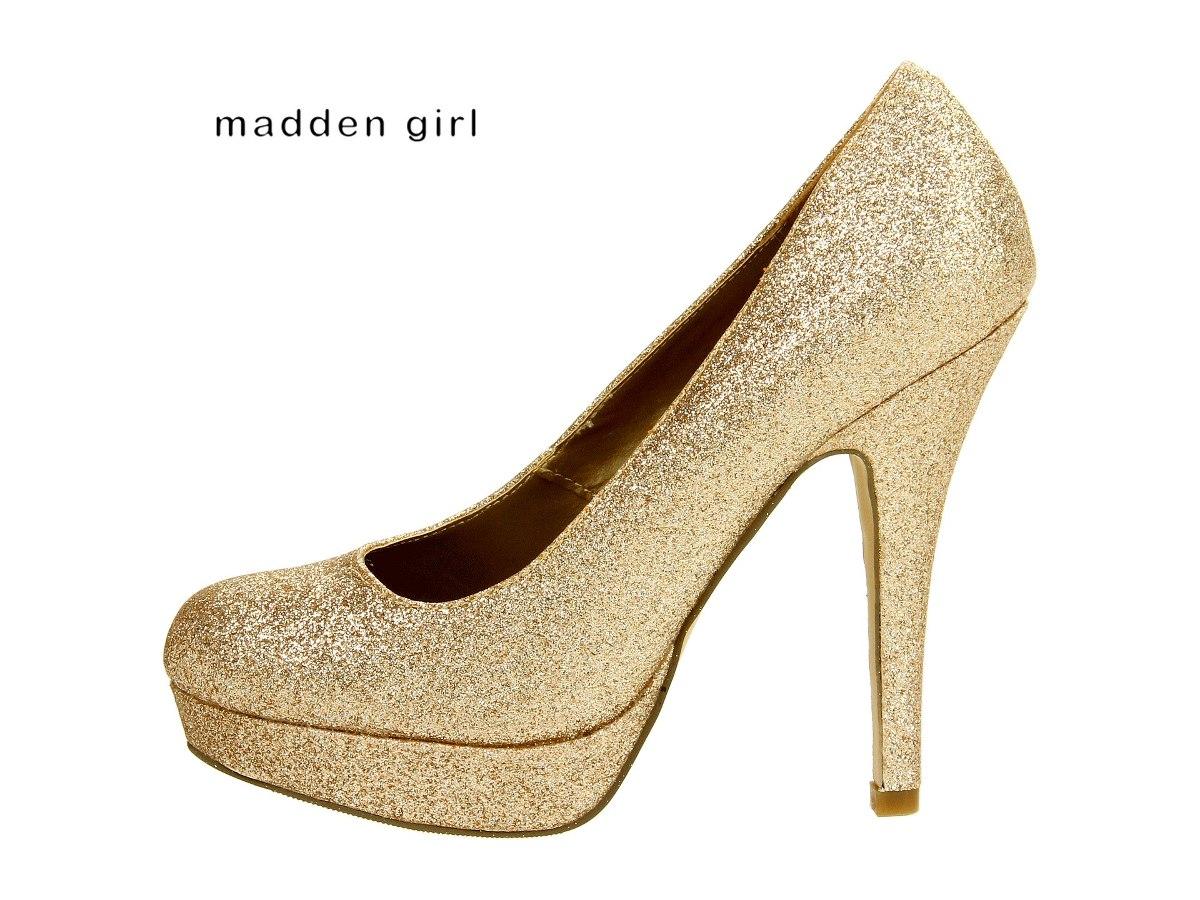 zapatos dorados fiesta plataforma escarchados 36 6 remate