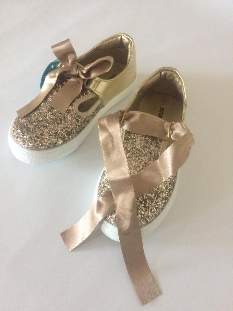 b9c2c153273 Zapatos Dorados Para Niñas - Zapatos Brillantes Para Niñas ...