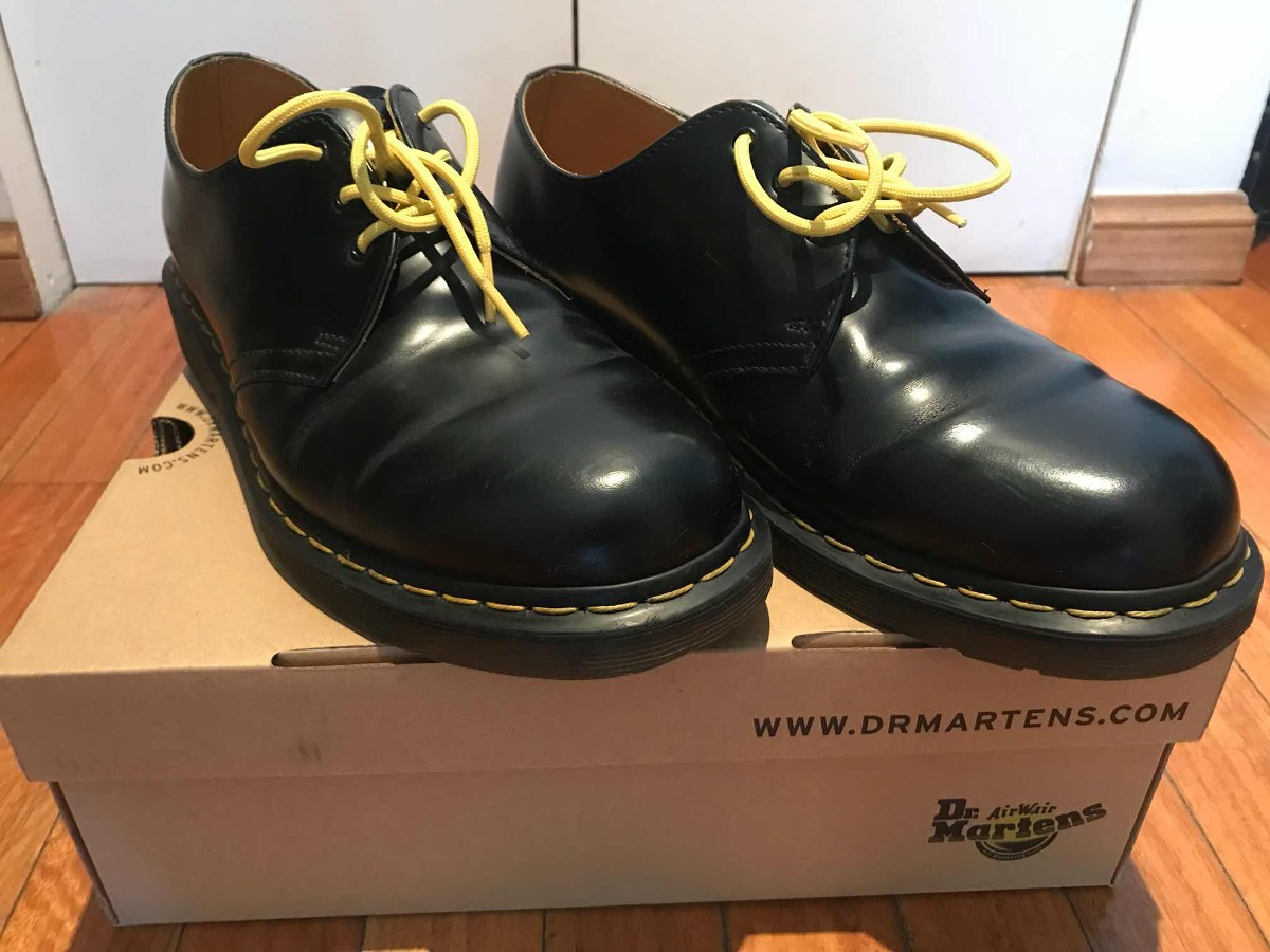 Talle Cordones Zapatos 45 Drmartens Color Amarillos Negro HIDWE29