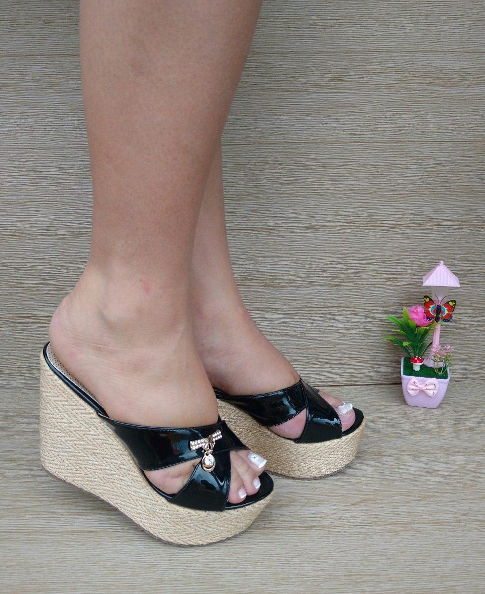 247cd346f68 zapatos elegantes sandalia alta charol negro moda para mujer. Cargando zoom.