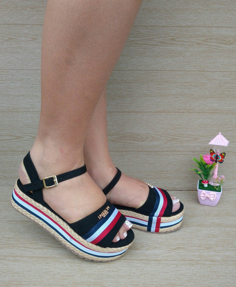 Para Moda Elegantes Plataforma Negra Zapatos Mujer Sandalia 5TlFKu1Jc3
