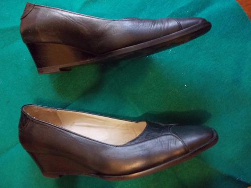 zapatos en cuero negros n.38 1/2  nuevos