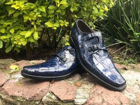 Zapatos De Avestruz Cuadra Zapatos Azul En Mercado Libre México