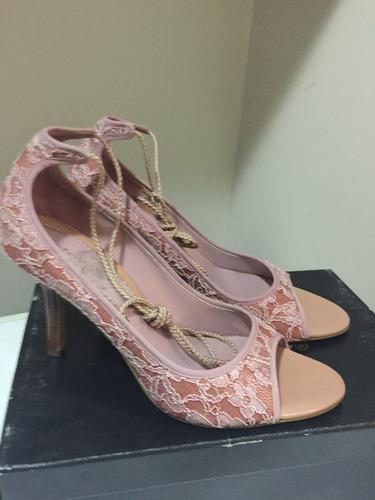 zapatos encaje rosado nine west