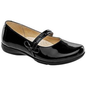 30be4117 Zapatos Acordonados 100 Cuero Con Ninas - Zapatos para Niñas Negro ...