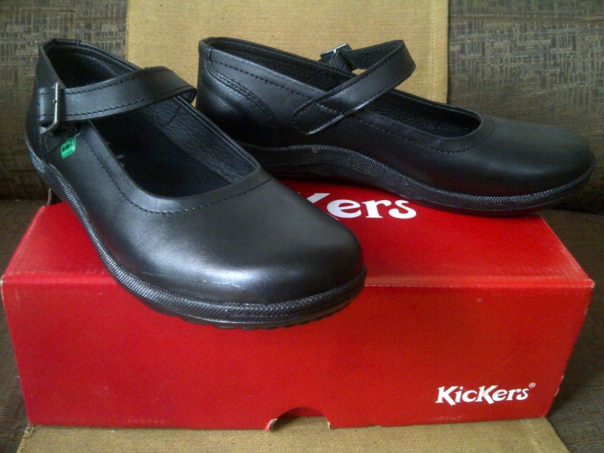 4ab6bec6050 Bs Negro 36 Talla Kickers Escolares Colegiales 20 7 Zapatos Niña ICqwX0xt