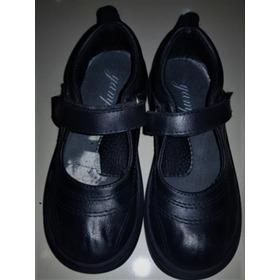 Zapatos Escolares De Niña Plantilla N° 30 Ecocuero Yamp
