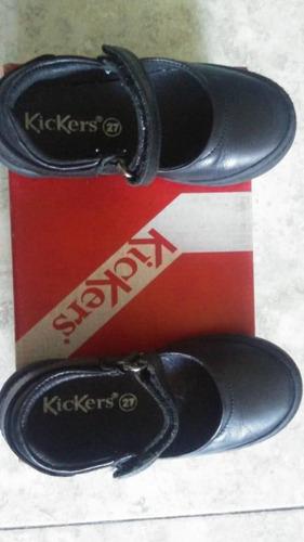 zapatos escolares negros kickers talla 27