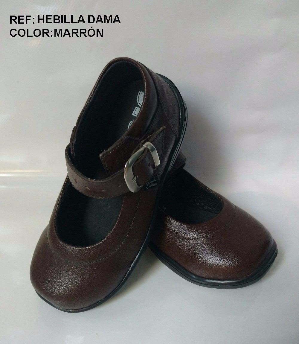 marron dama zapatos mafalda zoom para cuero niña Cargando escolares mujer I0Zq7