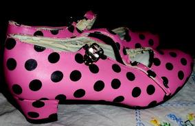 Zapatos Nº36 largo 33cmts Baile Españoles Lunares kuOiZTPwX