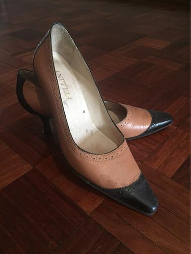 zapatos fellini 100% cuero combinado talle 38