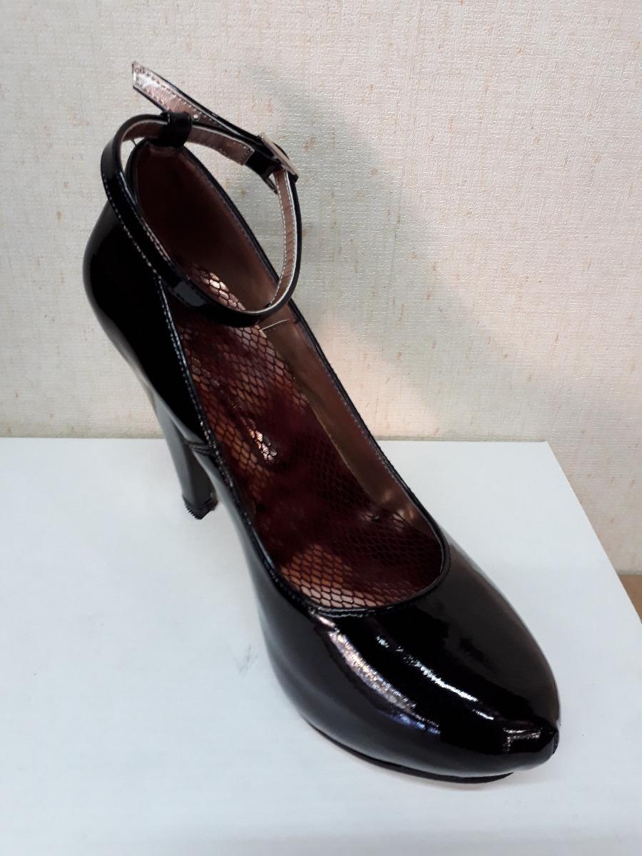27442a539 Zapatos Fiesta Negro Charol Taco Fino Pulsera - $ 1.099,00 en ...