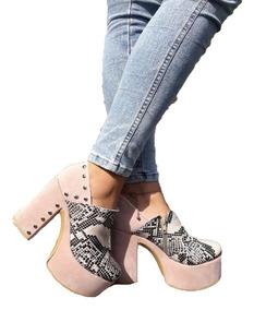 18987776 Zapatos Con Plataforma Bien Alta - Zapatos de Mujer en Mercado Libre  Argentina