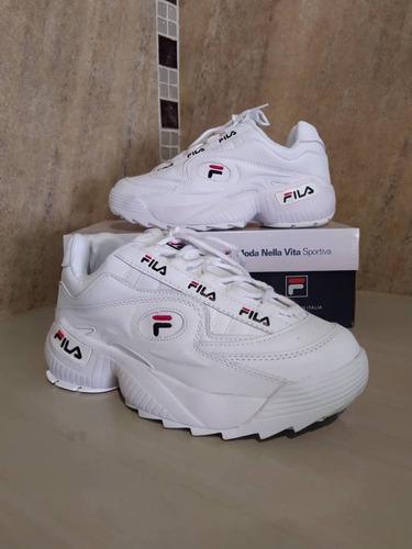 zapatos fila disrupto original tornasol dama deportivos