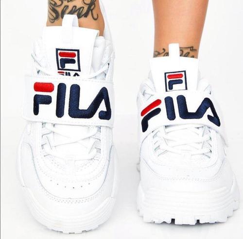 zapatos fila disruptor de mujer