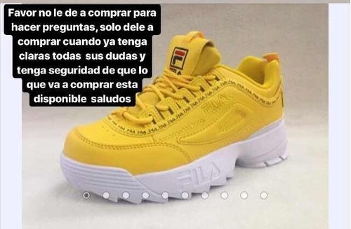 zapatos fila tallas disponibles del 35 al 45