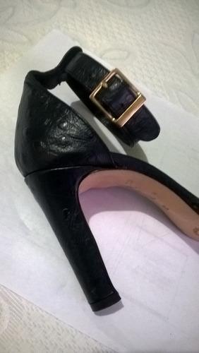 zapatos finos guido gabrielli azul piel de cocodrilo nro. 37
