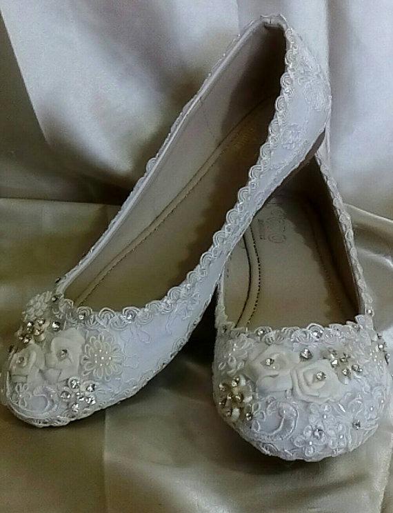 de7e412133c Zapatos Flats Novia Primera Comunión Cristal Perla Vintage ...