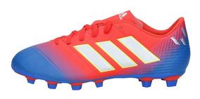 Zapatos Fútbol Hombre Adidas Nemeziz Messi 18 3 FG Rojo Azul