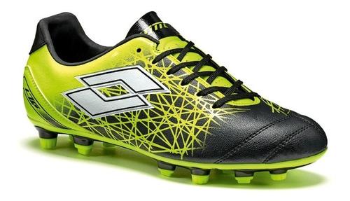 zapatos fútbol niños lotto lzg 700 ix fg amarillo-negro-1740