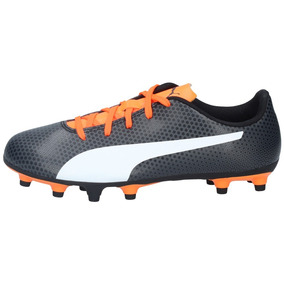 0d8902f671e74 Zapatos Fútbol Puma Niños Spirit Fg Negro Naranjo-2746 por Patuelli