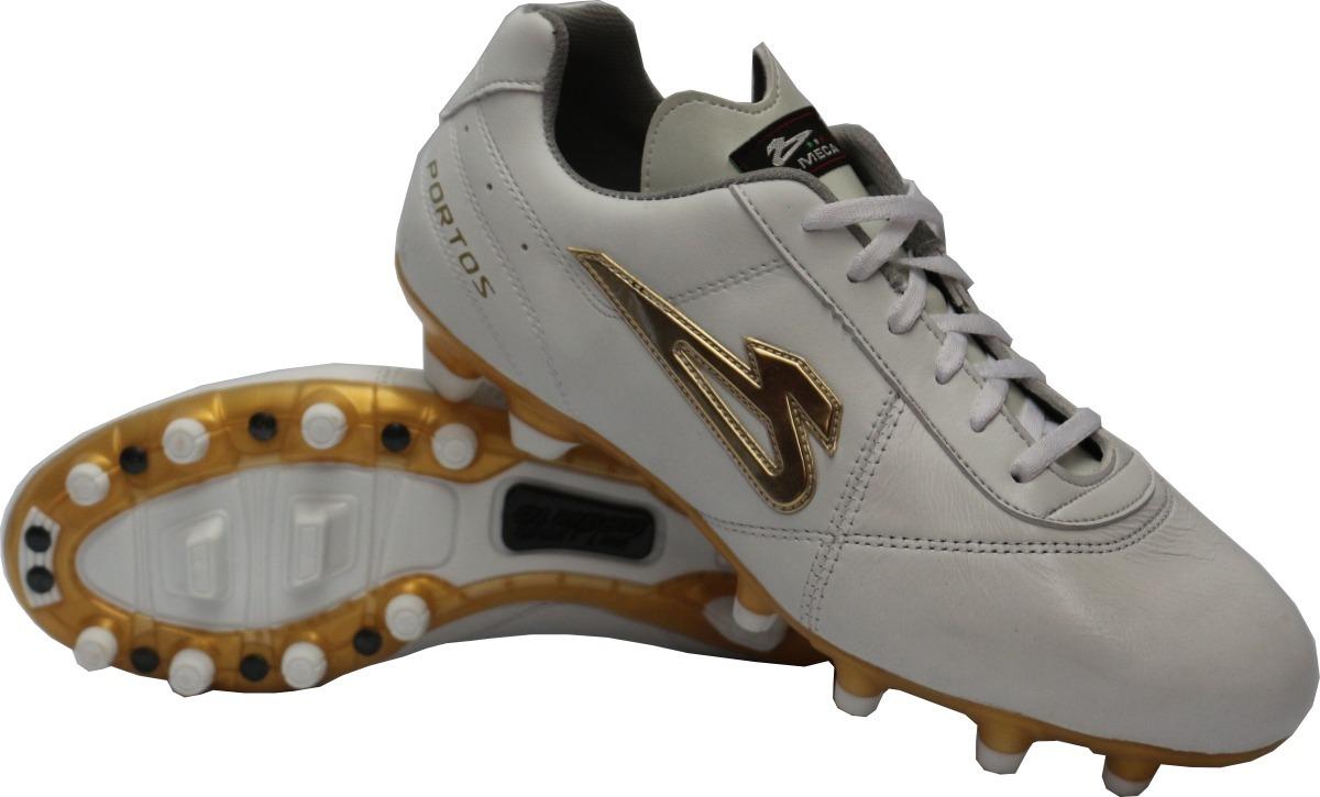 Zapatos Futbol Soccer Olmeca Portos Blanco En Piel mf -   689.00 en ... 4fd8359ef2c3d