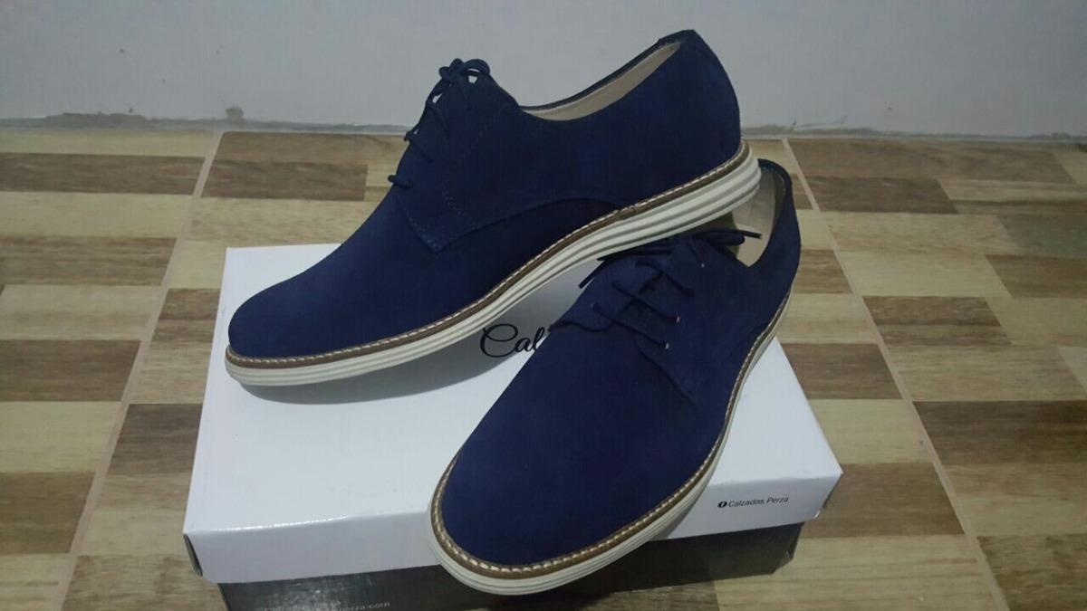 Zapatos Gamuza Azul Marino Hombre Calzados Perza *