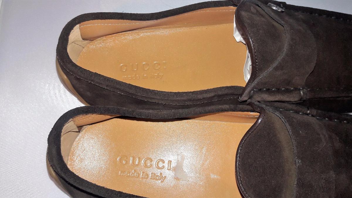 2519633e5f43c zapatos gucci originales gamuza piel mocasines. Cargando zoom.