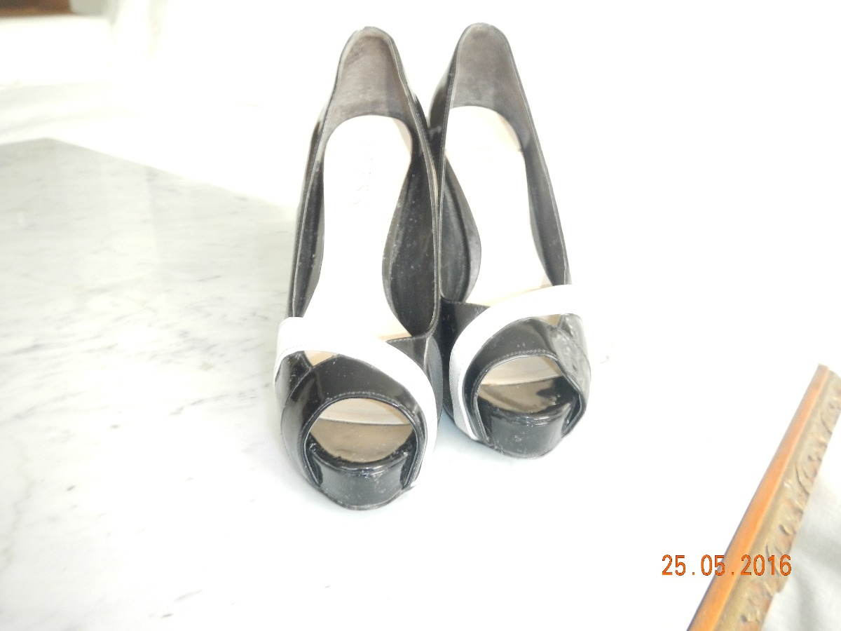 00 Zapatos Guess Charol Blanco1 Negro 290 Y EWDYHI29e