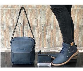 Zapatos Hombre + Bolso + Billetera, Botas Clarks, Combo