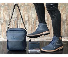 Zapatos Hombre + Bolso + Billetera, Clarks, Botines, Casual