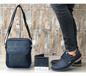 Zapatos Hombre + Bolso + Billetera, Zapatos Clarks, Combo,