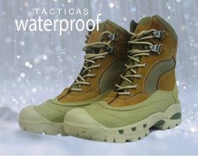 Zapatos Hombre Botas Tacticas Resisten Agua, Todo Terreno.
