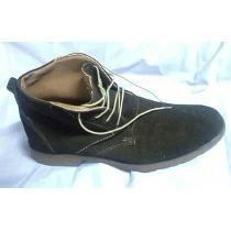 zapatos hombre botin  cuero volteado café chocolate t42